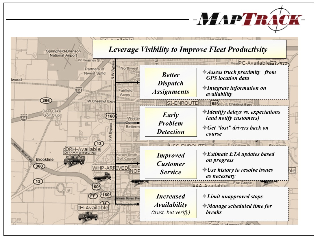 MapTrack - Improve Fleet Productivity