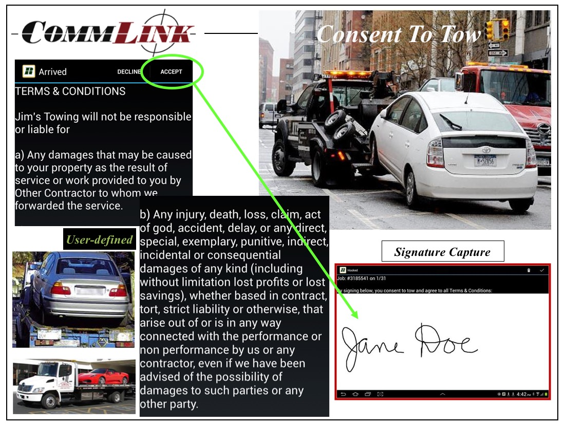 CommLink Consent to Tow
