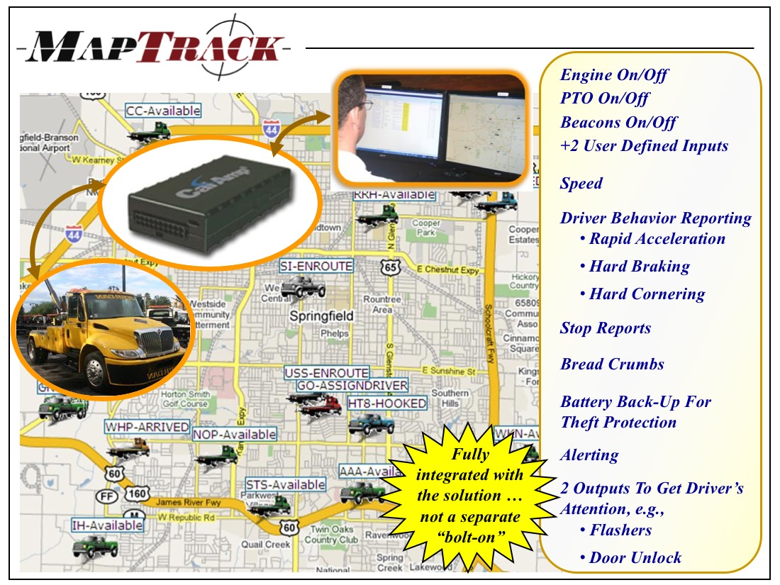 MapTrack Fixed-in-Vehicle GPS and Alerting